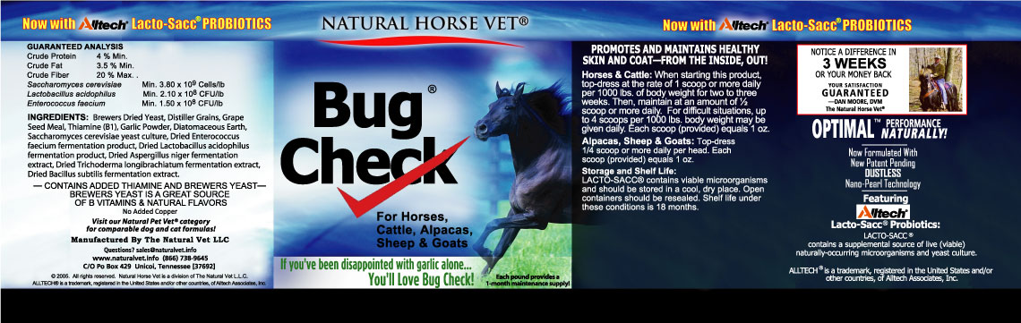Bug Check Label (Horses)
