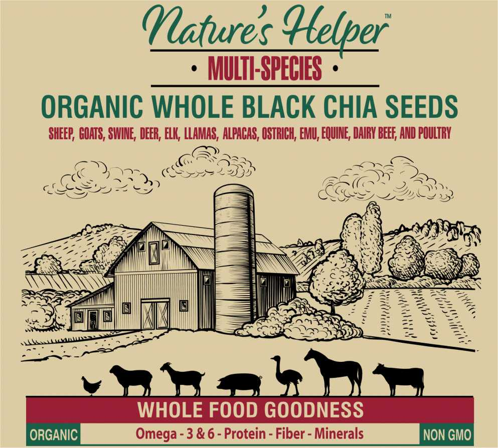 Nature's Helper Organic Whole Black Chia Seed