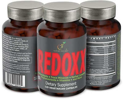 REDOXX 3-Pack<br>with Free Shipping*<br>Antioxidants • Trace Minerals • Herbal Complex • Vitamins & More