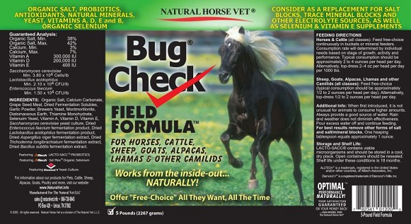 Bug Check Field Formula (5 - 25 Pound Bags) SAVE! ( Retail price reflects $1249.75 Savings over 5- Pound Price )
