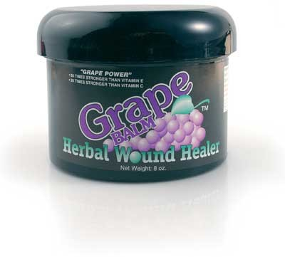 Grape Balm Herbal Wound Healer<br> (8 Ounce 3-Pack)<br>$10.00 Savings!