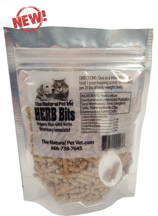 HERB Bits<br>with Free Shipping*<br>For Dogs/Cats<br>Give as a treat or add to food