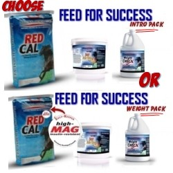 What To Feed Your Horse #3 <br>INTRO MULTI-PACK<br>Provides for 2 horses x 5 months<br>(Intro Packs include regular Red Cal)